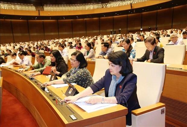 越南第十四届国会第八次会议通过两部法律 hinh anh 1