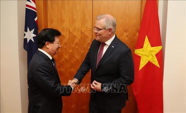 越南政府副总理郑廷勇对澳大利亚进行工作访问 hinh anh 1