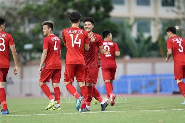 第三十届东南亚运动会男足比赛: 越南队6-0击败文莱队 hinh anh 1