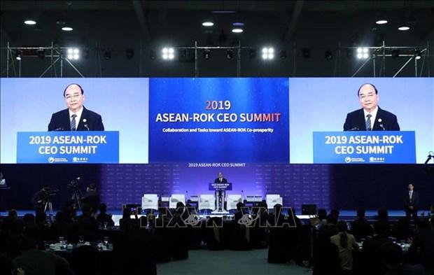 阮春福总理在东盟—韩国商界CEO峰会上发言 hinh anh 1