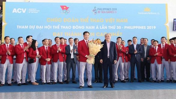 第30届东南亚运动会:越南体育代表团今日启程前往菲律宾 hinh anh 1