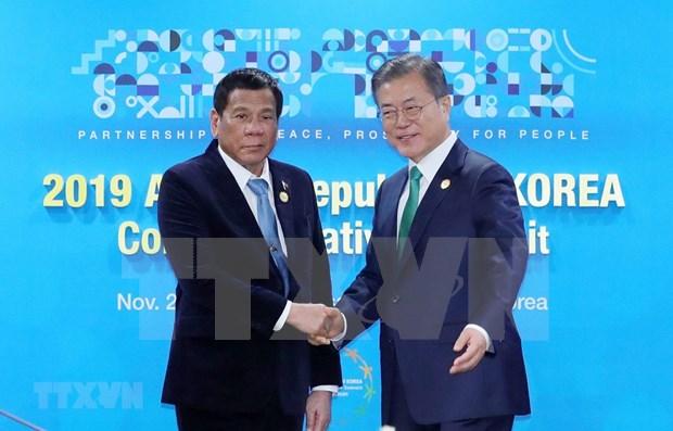 东盟韩国特别峰会:加强韩国与菲律宾和新加坡的防务合作 hinh anh 1