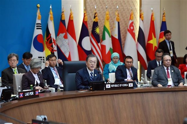 东盟-韩国峰会:韩国总统强调合作团结精神 hinh anh 2