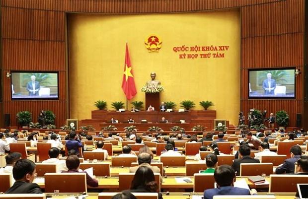 越南第十四届国会第八次会议:对六部法案和决议进行表决 hinh anh 1