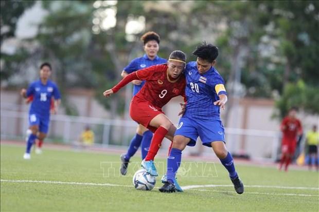 第30届东南亚运动会:越南女足队与泰国队握手言和 hinh anh 1