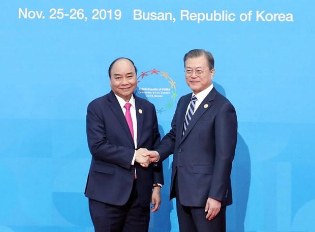 越南政府总理阮春福出席东盟与韩国伙伴关系30周年纪念峰会首场会议 hinh anh 2