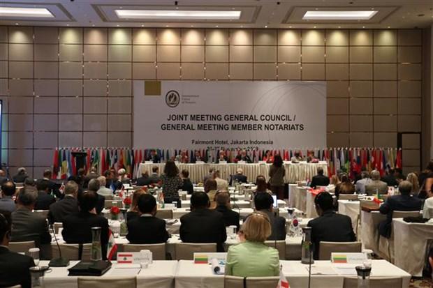 越南出席国际公证联盟第29届大会 hinh anh 1
