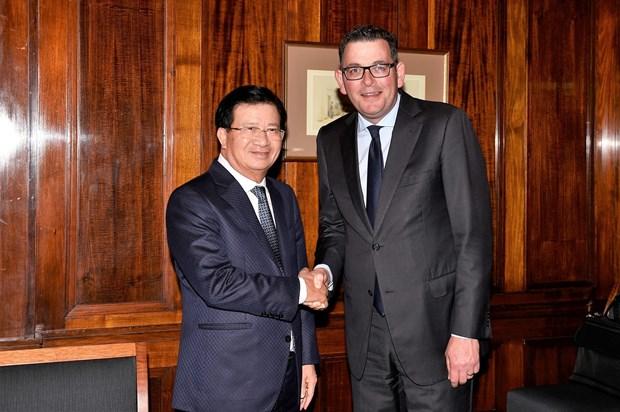 政府副总理郑廷勇高度评价维多利亚州与越南各地方的有效合作 hinh anh 1