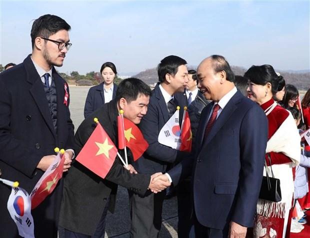 越南政府总理阮春福开始对韩国进行正式访问 hinh anh 4