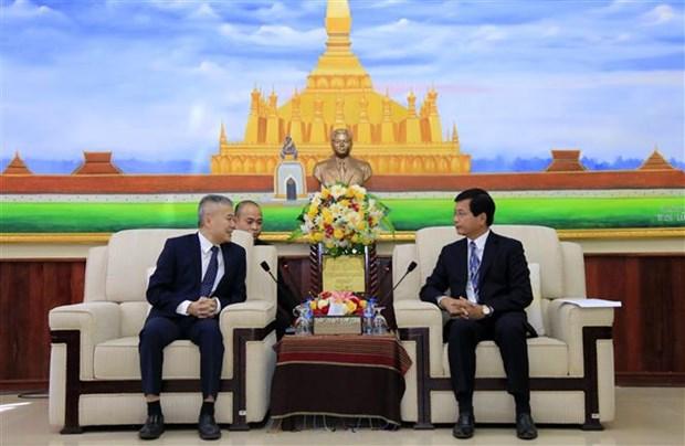 越南驻老挝大使馆庆祝老挝国庆44周年 hinh anh 2