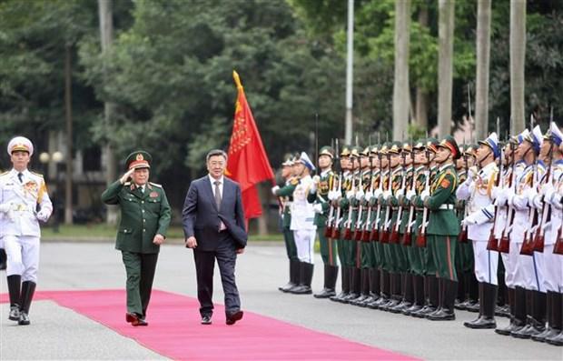 蒙古国国防部长对越南进行正式访问 hinh anh 1