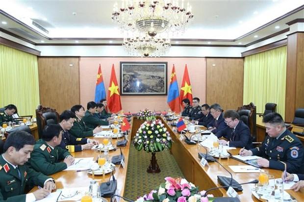 蒙古国国防部长对越南进行正式访问 hinh anh 2