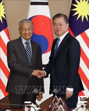 韩国和马来西亚领导人同意将两国关系升级为战略伙伴关系 hinh anh 1