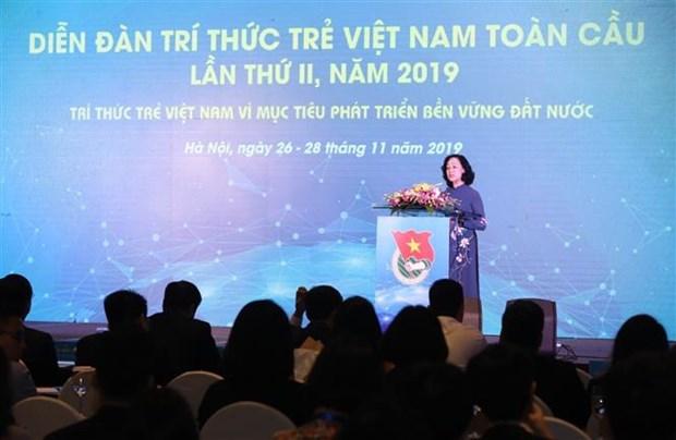 全球越南青年知识分子为国家实现可持续发展目标建言献策 hinh anh 1