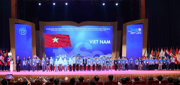 2019年第16届国际小学数学与科学奥林匹克竞赛在河内开幕 hinh anh 2