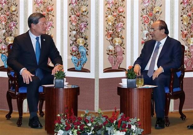 越南政府总理阮春福与韩国一流投资商举行座谈会 hinh anh 3