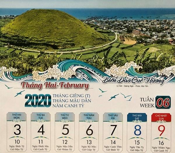 2020年航拍海岛风景日历表销售挺好 hinh anh 1