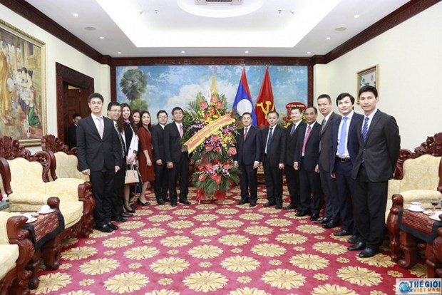 越南外交部庆祝老挝国庆44周年 hinh anh 1