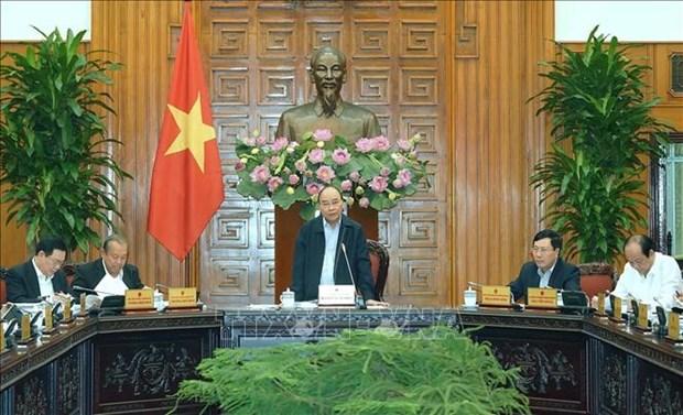 政府总理阮春福就2020年第一号决议制定工作召开会议 hinh anh 1