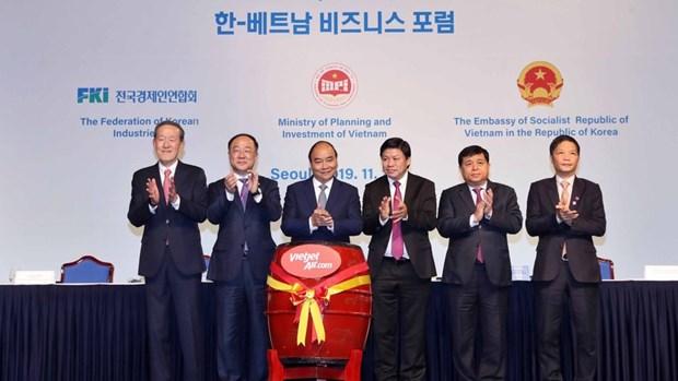 越捷航空公司公布开通直飞韩国首尔的四条航线 hinh anh 1