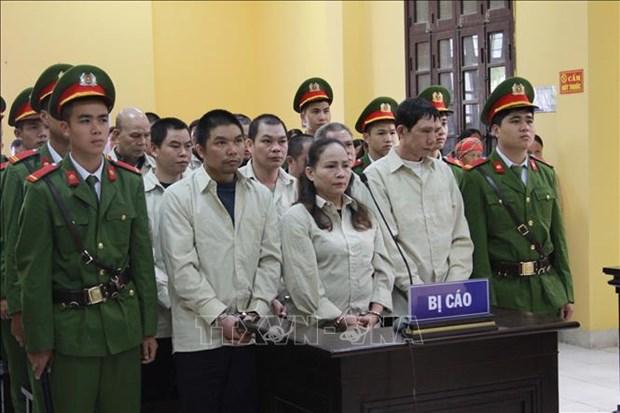 谅山省破获一起特大跨境贩毒案 11人获死刑 hinh anh 1