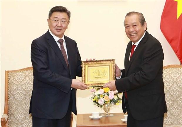 政府副总理张和平:越南一向将蒙古国视为重要伙伴 hinh anh 2