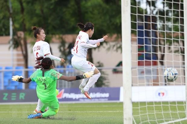 第30届东南亚运动会:越南女足6:0击败印尼队 hinh anh 1