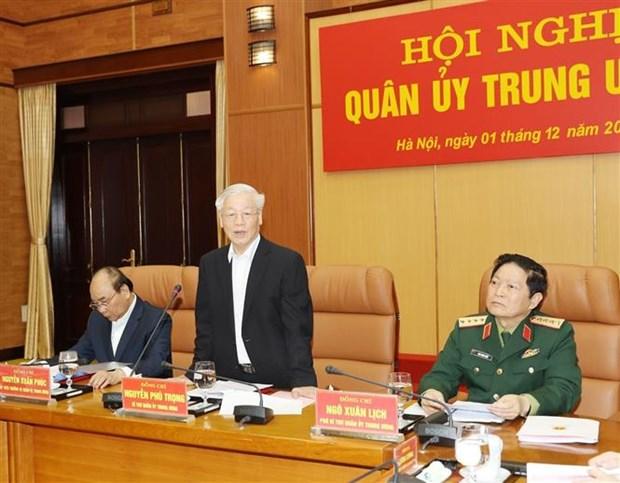 中央军委对2019年国防军事工作进行总结 hinh anh 2