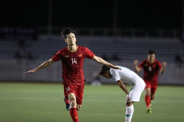 越南队2-1逆转战胜印尼队保持B组头名 hinh anh 1