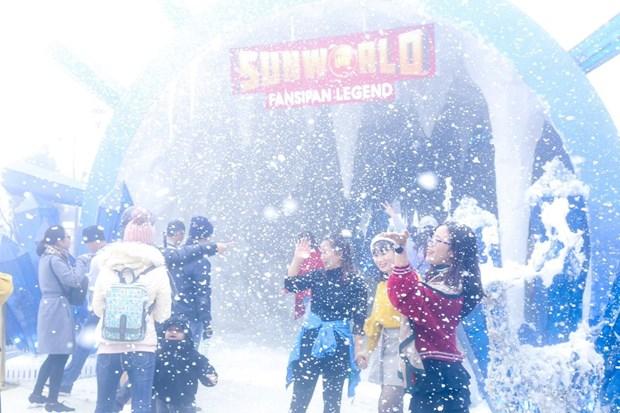 来沙坝体验规模空前的2019年冬季节 hinh anh 1