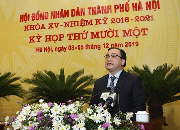河内市第十五届人民议会第11次会议今日开幕 hinh anh 2