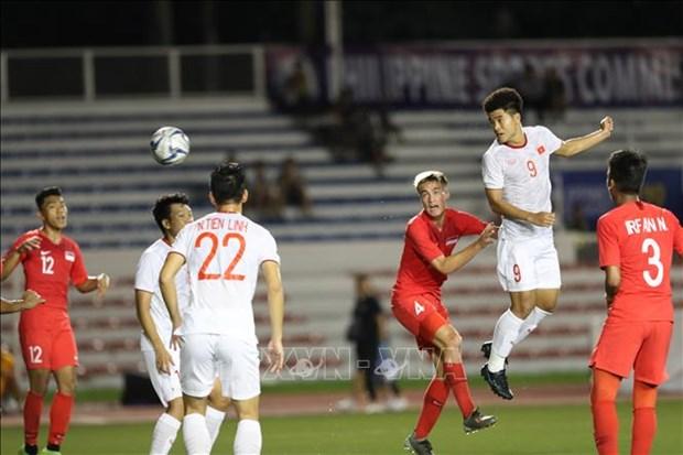 第30届东南亚运动会:越南U22队1-0力克新加坡U22队 hinh anh 1