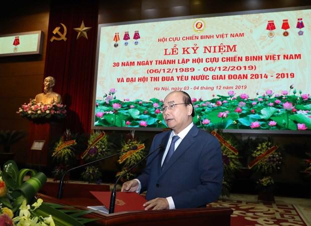 阮春福总理:越南老兵协会真正成为党、政府和人民的靠山 hinh anh 1