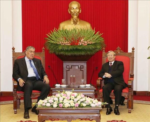 陈国旺会见多米尼加统一左派运动党秘书长 hinh anh 1