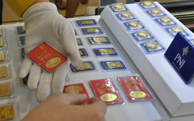 12月4日越南国内黄金价格略增 hinh anh 1