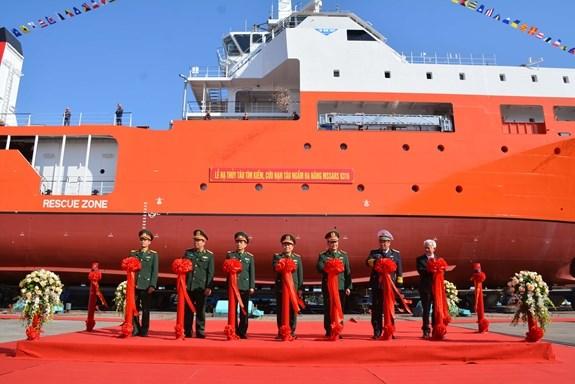 越南MSSARS型 9316号多功能潜艇搜救船成功下水 hinh anh 1