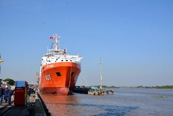 越南MSSARS型 9316号多功能潜艇搜救船成功下水 hinh anh 2