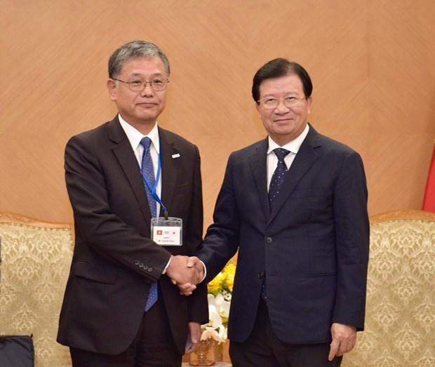 政府副总理郑廷勇会见日本人民外交促进会代表团 hinh anh 1