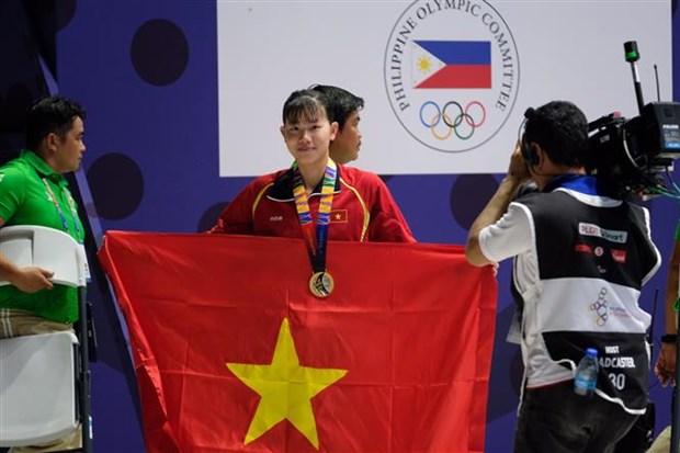 第30届东南亚运动会:越南体育代表团在第四个比赛日再获4金5银8铜 hinh anh 1