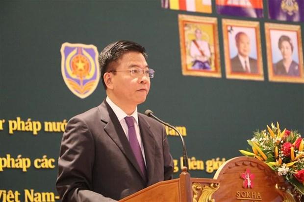 越南强化边境各省与柬埔寨之间司法合作的重要性 hinh anh 2