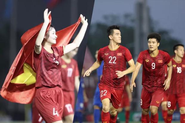 第30届东南亚运动会:政府总理对越南U22男足队和国家女子队的成功表示祝贺 hinh anh 1