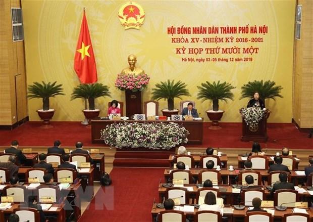 河内市第十五届人民议会第11次会议通过了20项报告和17项决议 hinh anh 1