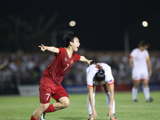 第30届东南亚运动会:越南女足在决赛中对阵泰国女足 hinh anh 1