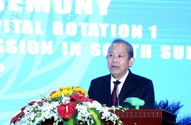 张和平副总理:一号二级野战医院每一位成员均是越南和平使者 hinh anh 1
