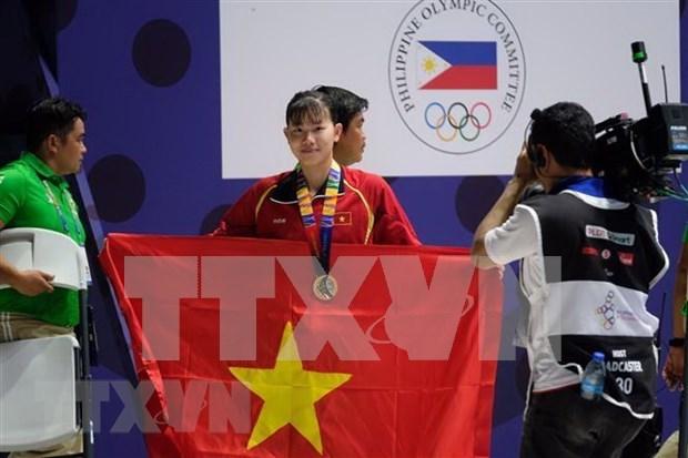 第30届东盟运动会:越南体育代表团以46金、48银和63铜稳居奖牌榜第三 hinh anh 1
