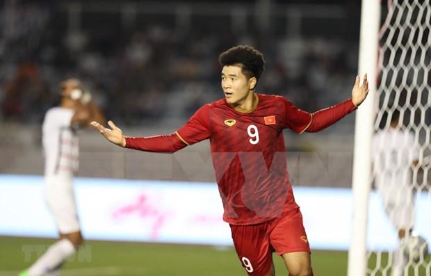 越南队4比0打败柬埔寨队 挺进决赛:何德贞在比赛中演了帽子戏法 hinh anh 1