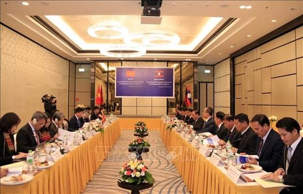 老挝领导人高度评价越南司法部对老挝司法部的支持 hinh anh 2