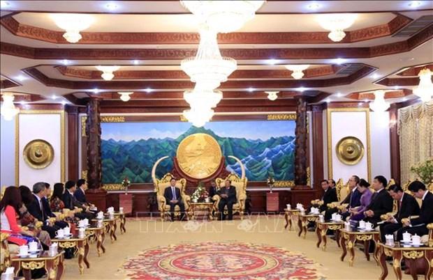 老挝领导人高度评价越南司法部对老挝司法部的支持 hinh anh 1