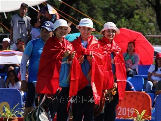 第30届东南亚运动会:越南射箭运动员摘下首枚金牌 hinh anh 1