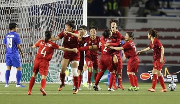国家副主席邓氏玉盛向越南体育代表团和国家女子足球队致贺信 hinh anh 1